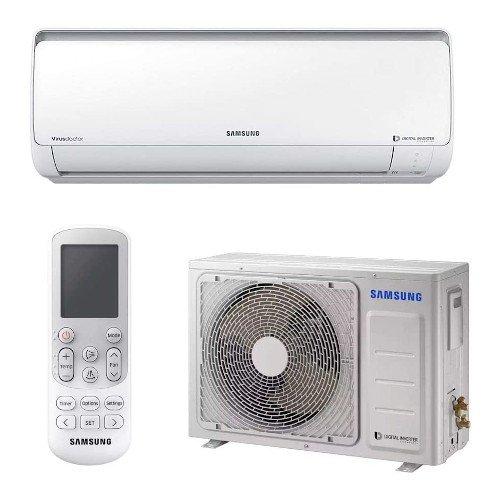 Ar Condicionado Split Hw Digital Inverter Samsung 9000 Btus Quente-Frio 220V Monofásico